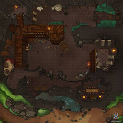 Bandit Hideout Dungeons And Dragons Battle Map by Hassly