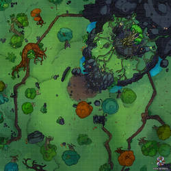 Enchanted Forest Dungeons And Dragons Battle Map by Hassly