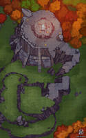 Sacrifice Tower BattleMap for Dungeons And Dragons