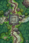 Forest Shrine Battle Map for Dungeons And Dragons