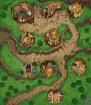 Mountain Village Battle Map