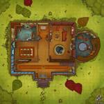 Magic Castle 1F Battle Map