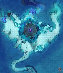 Glacial Cave Battle Map