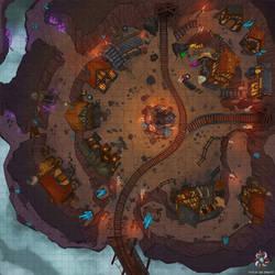 Dwarven Mining Village Battle Map