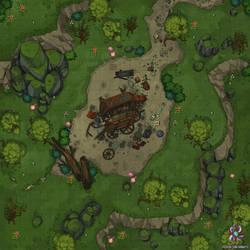 Abandoned Wagon Battle Map