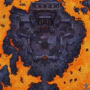 Volcanic Castle Walls Battle Map