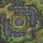 Forest Ruins Battle Map