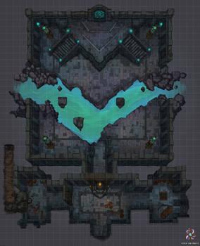 Underground Chamber Battle Map