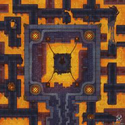 Hellish Corridors Battle Map