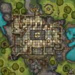 Temple Ruins Battle Map