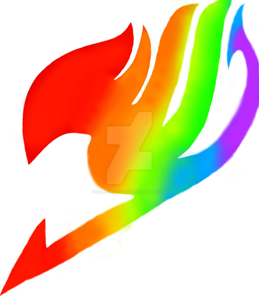 Rainbow fairy tail logo by dragonvictory on deviantart - Fairy tail emblem ...