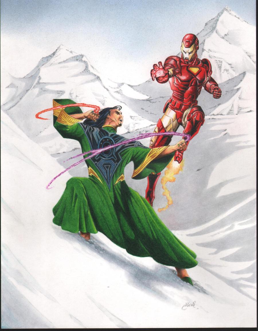 Iron Man vs Mandarin by hawk5