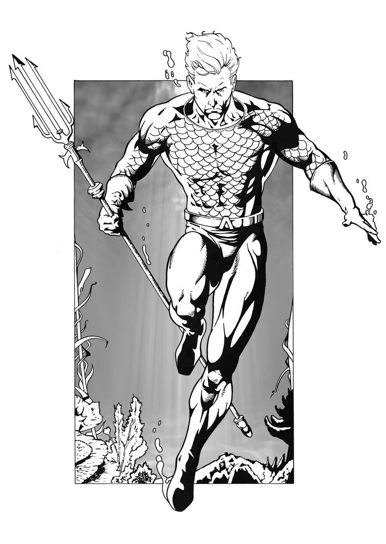 Aquaman 1960 39 s by hawk5 on deviantart for Aquaman coloring pages