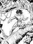 Tarzan pen and ink