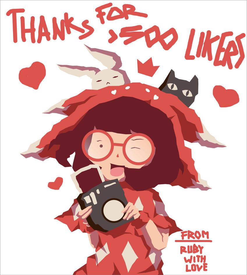 Thanks 500 Likers! by kum---kum