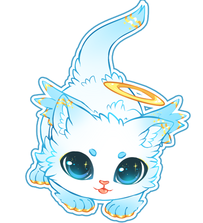 Angel Kitten Adopt [ADOPTED] by AndreaJacqLee