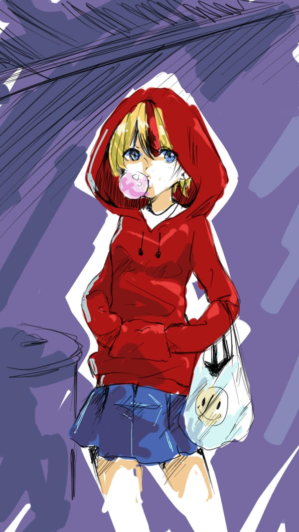 Sketch Challenge - Red Riding Hood by Kairui-chan