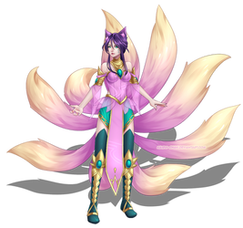 Order of the Lotus Ahri Concept by Kairui-chan