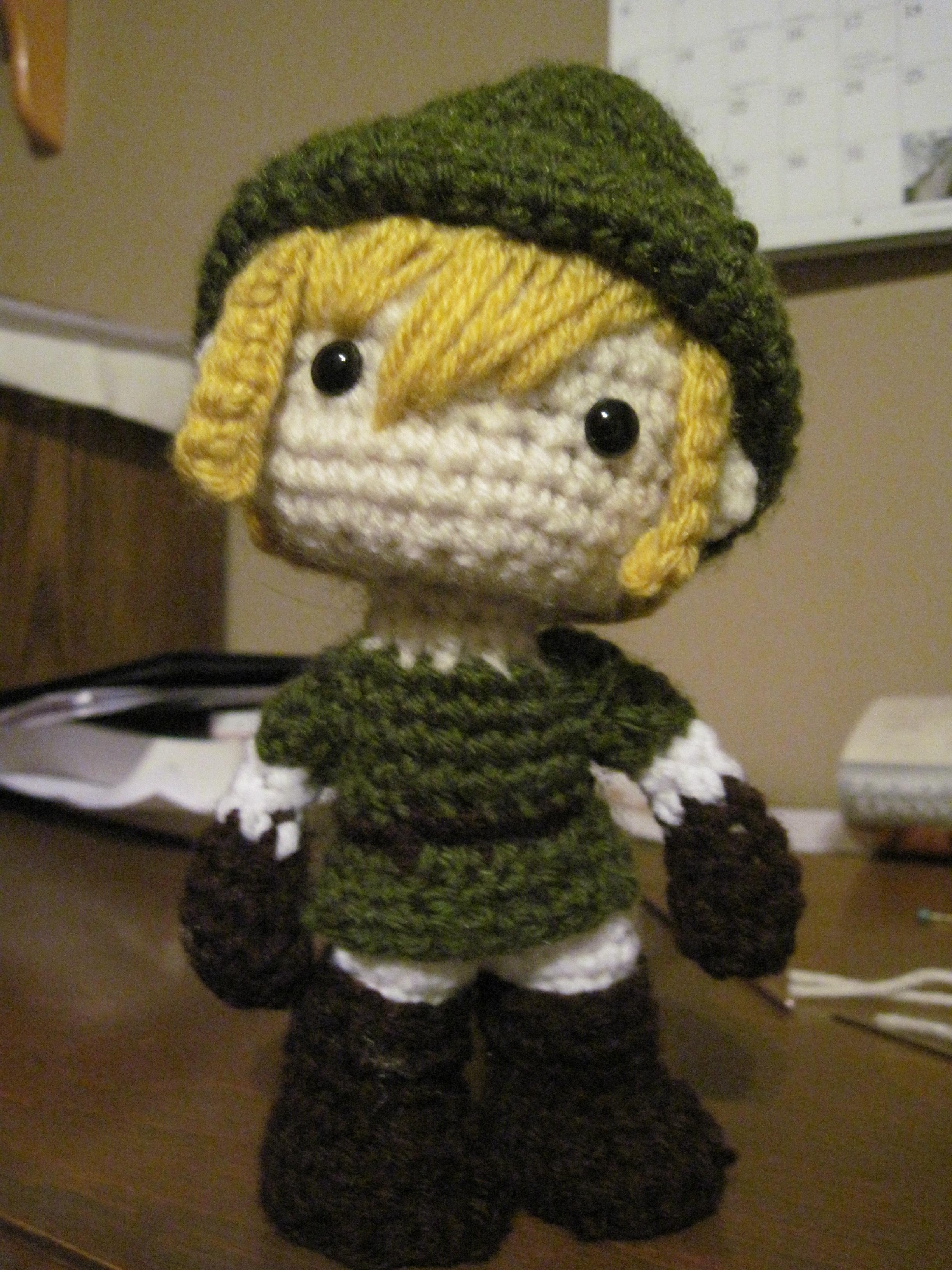 Crocheted Link Amigurumi by kichihayashi on DeviantArt