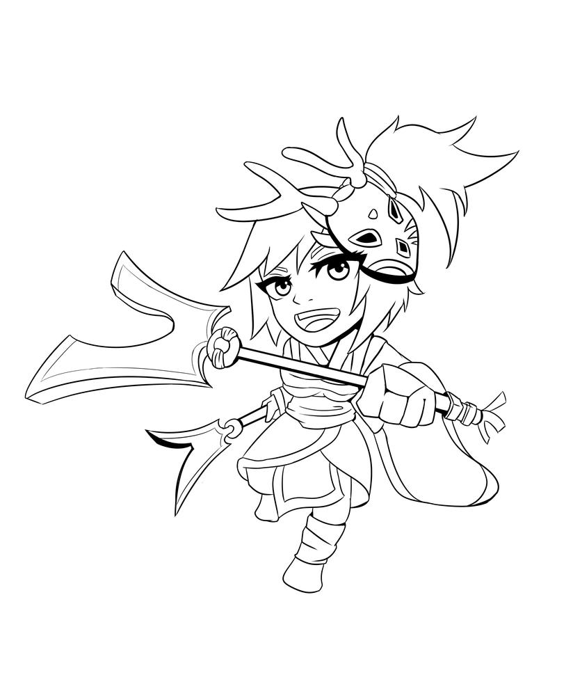 Line Drawing Of Yourself : Akali line art color by yourself for free bmsolari on