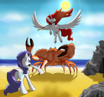 BronyCan Poster - Rarity and Apricity vs Crab