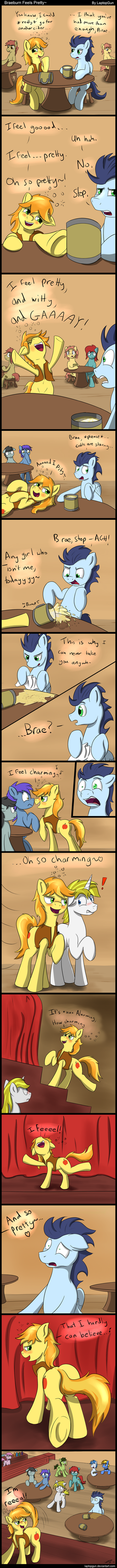 Braeburn Feels Pretty [Comic] by LaptopGun