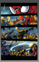 Avenging Spider Man Page Colors. by CrisstianoCruz