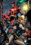 Starman and Black Canary Colors