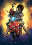 Deadpool and Domino Colors