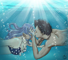 Kiss underwater (Request) by Milui87