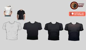 Black Shirt Tutorial - Male Body