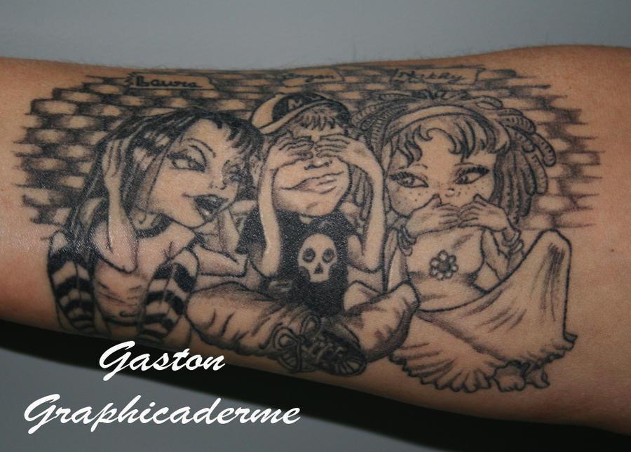 Three Monkeys Tattoo