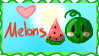 I Heart Melons (stamp) by FreshMintz82
