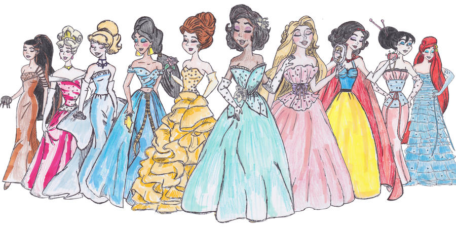 designer disney princesses by thegirlonxboxlive on deviantart