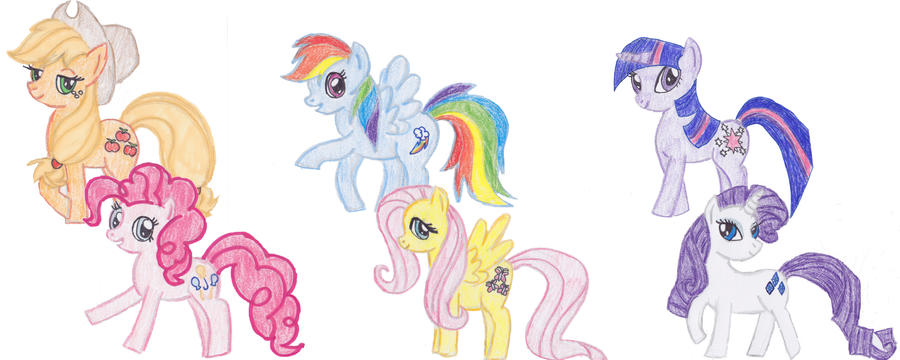 My Little Pony Sketches by TheGirlOnXboxLive