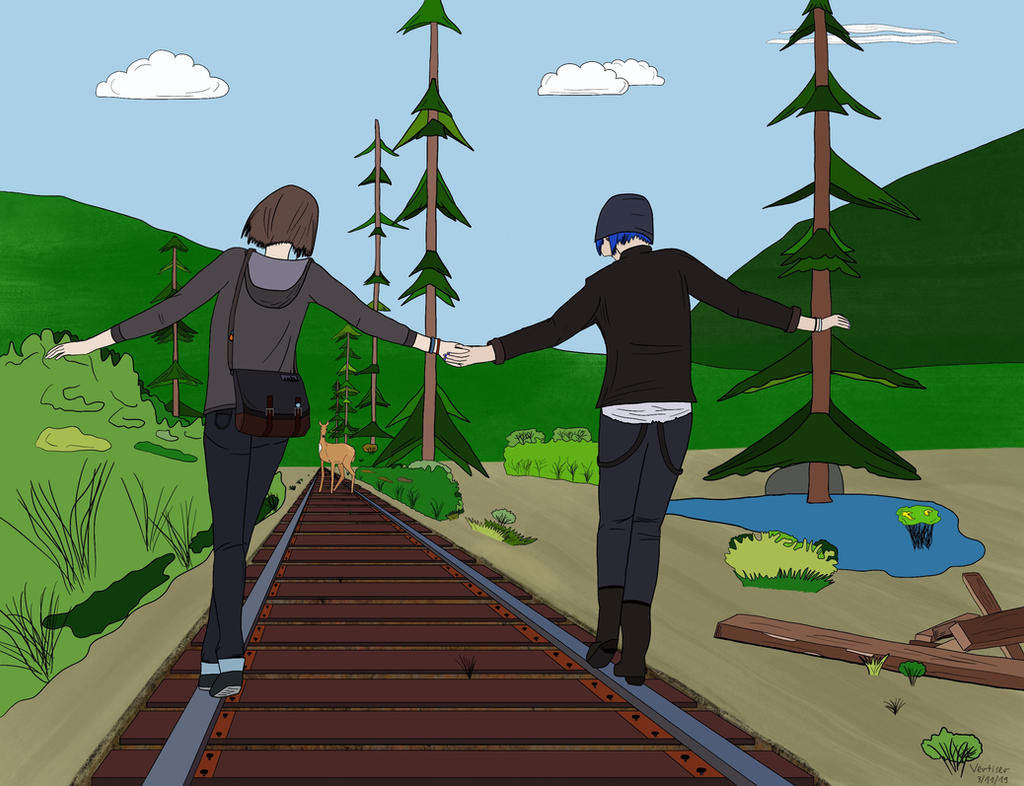Max and Chloe (Life is Strange) - comic book style