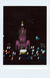 Palace of Culture and Science at night (BLUR) by vertiser