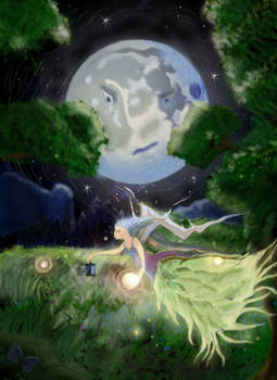 Moonlight angel faery