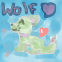 Wolf Love: Green by Iceytown