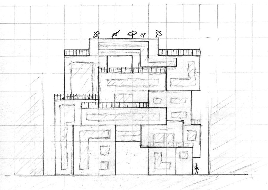Apartment block design by gaystudent on deviantart for Apartment block plans