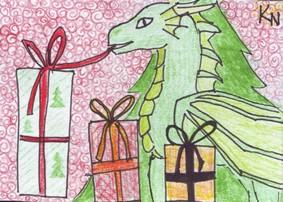 ACEO #0002 - Christmas Diarsie by KapitankaNemo