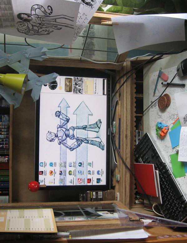 My Desk by JubbenRobot