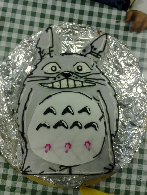 Totoro Birthday Cake By Cogg In The Works On Deviantart