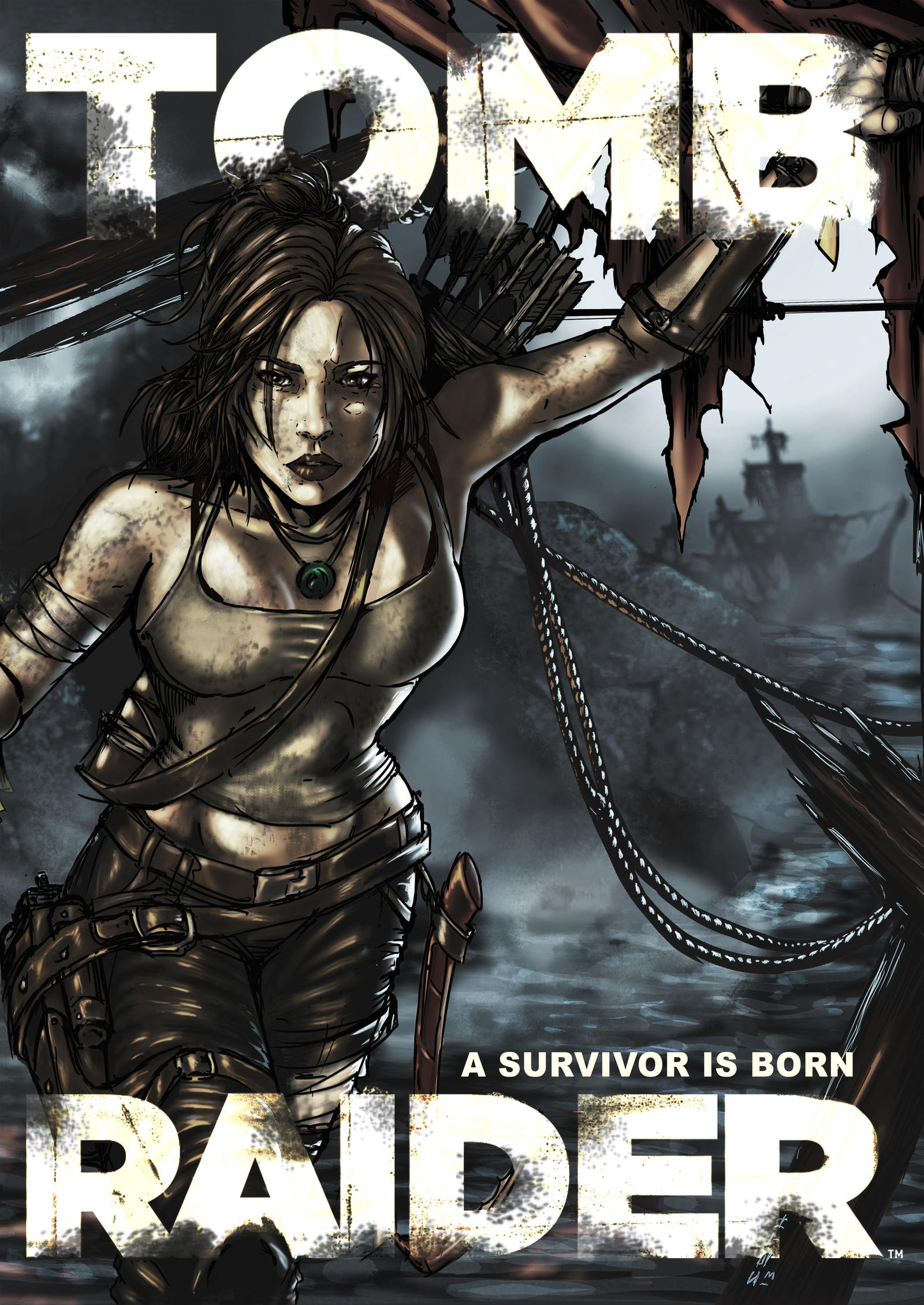 Tomb Raider Comic Poster by SethBrandon