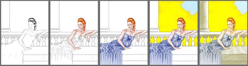 Golden Hour Illustration process
