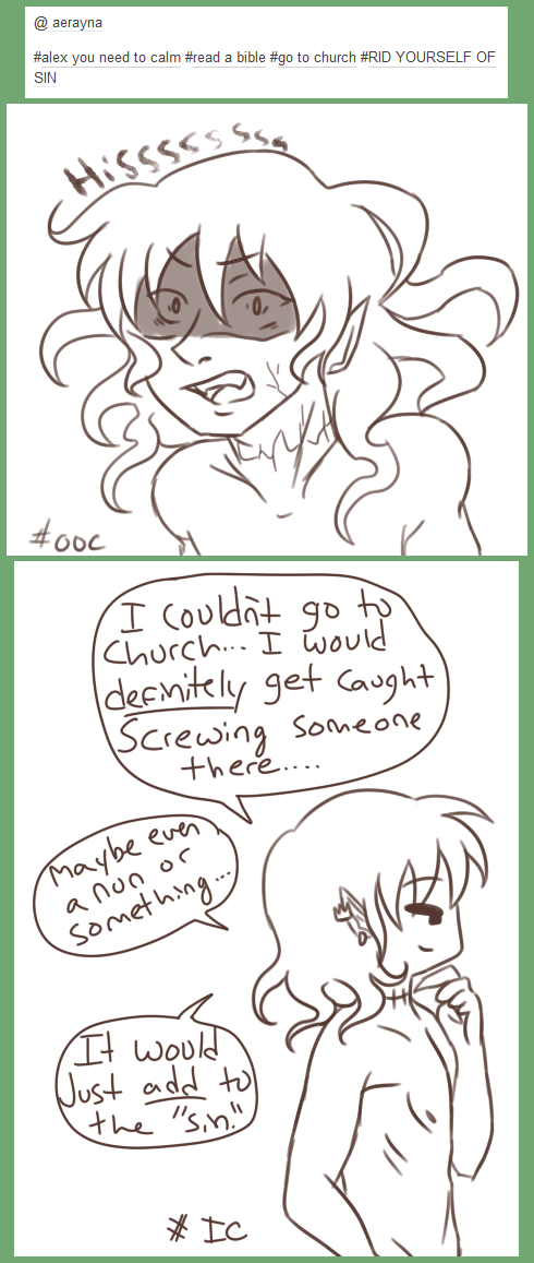 Alex's OOC and IC reactions by EuchredEuthanasia
