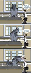 My Fair Were: Thoughtful Beast by RayaWolf