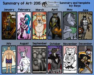 Summary of Art 2015 by RayaWolf