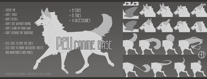 - P2U Canine Base`1 by Ethamari