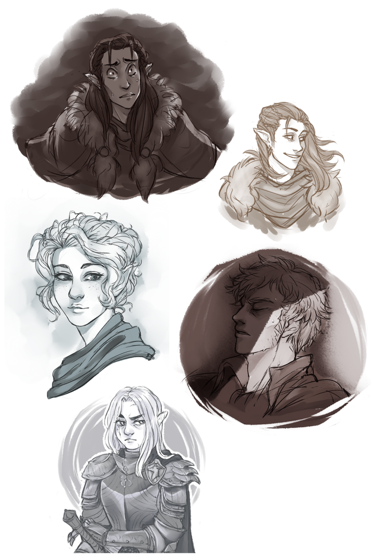 Critical Role doodle dump by RoughReaill